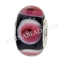 New Design Murano Glass Beads have Sterling Silver Core or Silver
