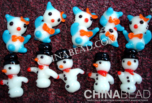 Custom Glass Animal:Hello kitty cats & snowman