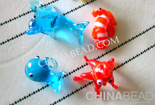 Custom Glass Animal:Dolphin, starfish, seahorses