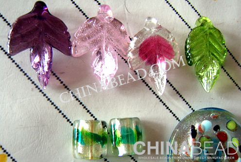 Murano Glass Leaves.